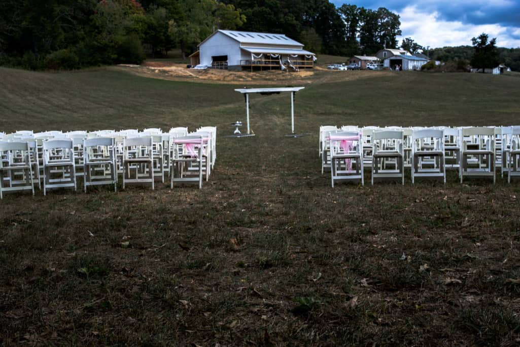 White wedding chairs included in all rentals.