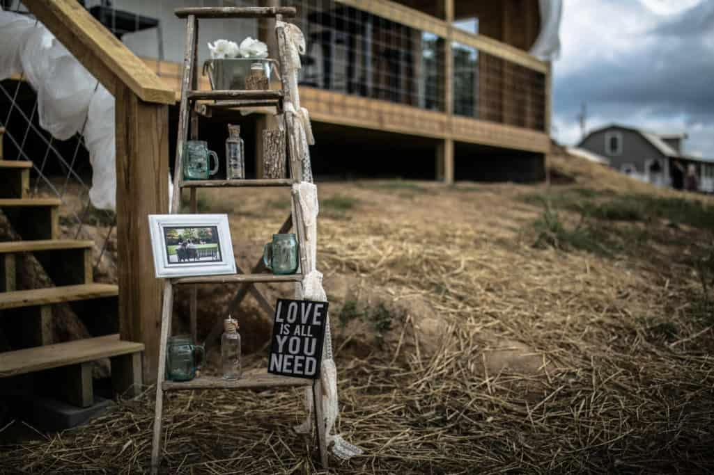 Wedding signs all around the farm.