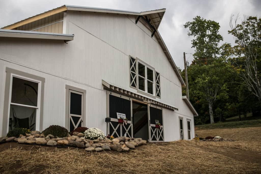Large White Wedding barn