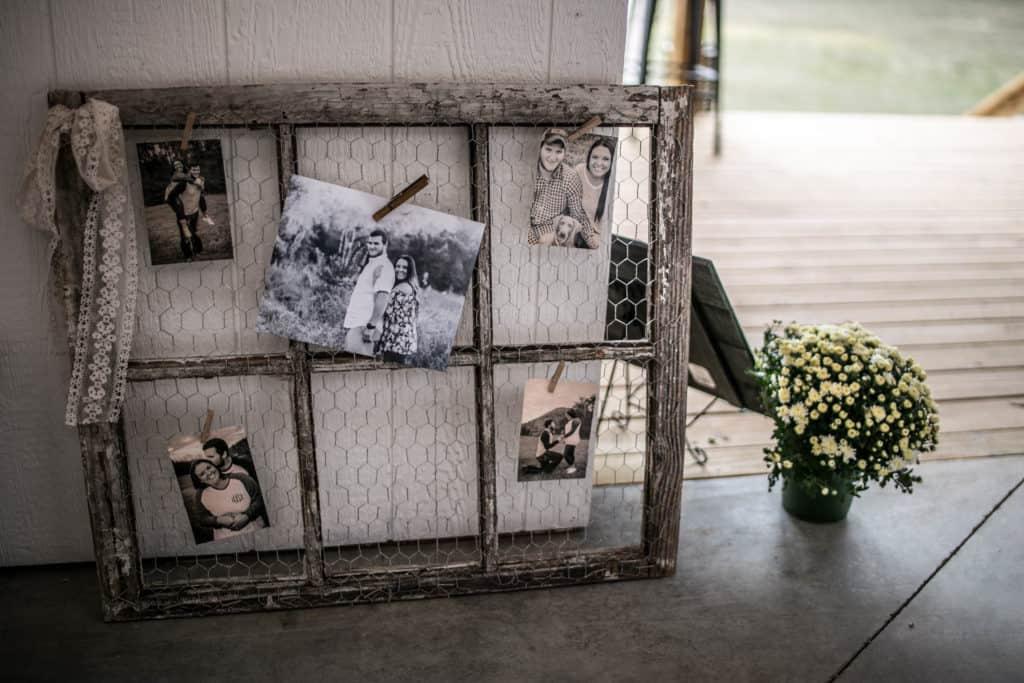 Old wedding frames DIY