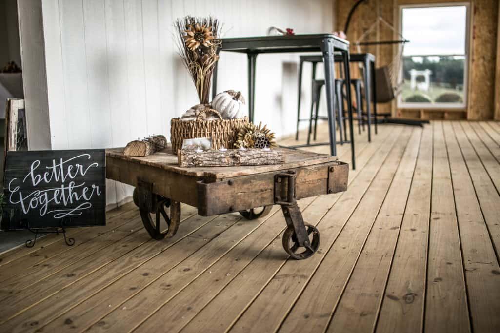 old antique lumber carts