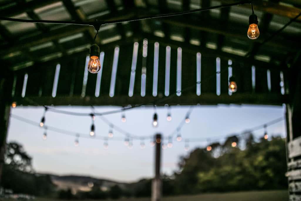 Chicken Barn String lights.