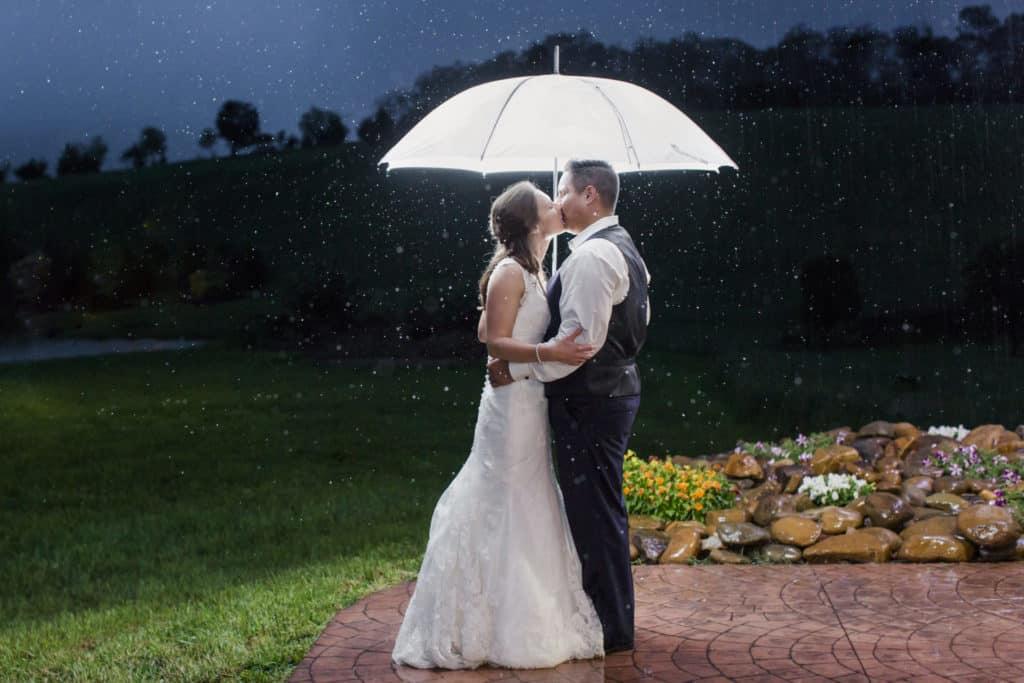 Wedding Day in the Rain